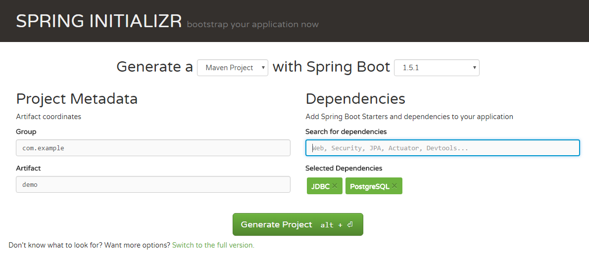 spring_boot_jdbc_generate_project